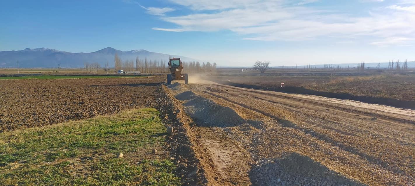 Gevurmezarı Mevkisindeki Arazi Yolu Asfalt Çalışmaları